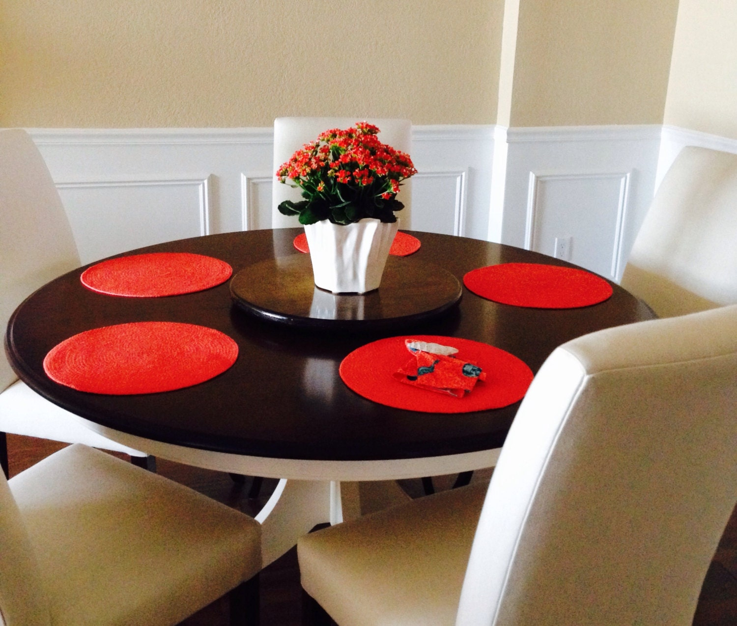 Low Profile Small Wood Lazy Susan For Dining Table Or Counter Top Finished  Or DIY