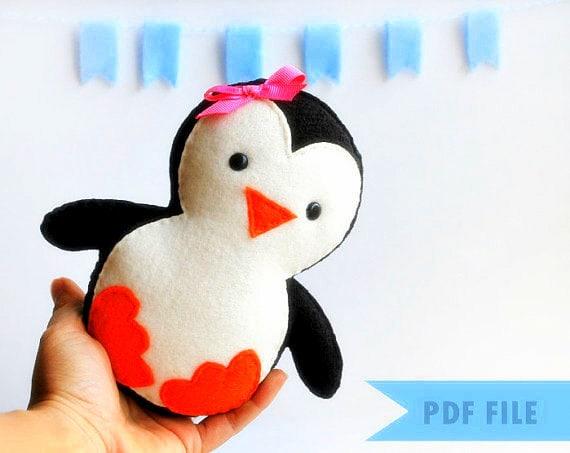 Penguin Pattern Baby Penguin Sewing Pattern Pdf Pattern