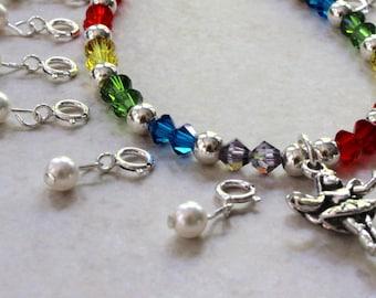 Rainbow Tooth Fairy Bracelet Ensemble. Version 1. Made To Order