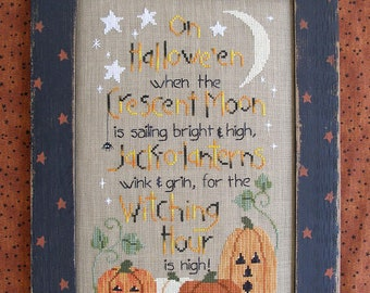 INSTANT DOWNLOAD WAXiNG MOoN DESiGNS Witching Hour PDF counted cross stitch patterns at thecottageneedle.com