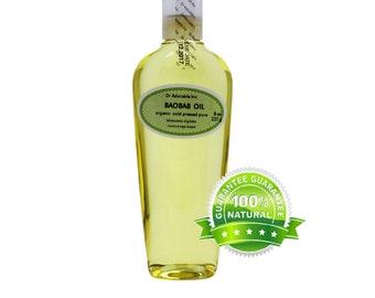 8 Oz Baobab Oil 100% Pure & Organic Cold Pressed