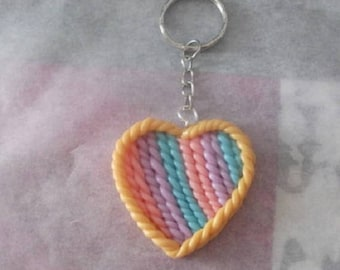 Key heart in four colors
