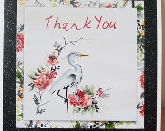 Handmade oriental style 'Thank you' card