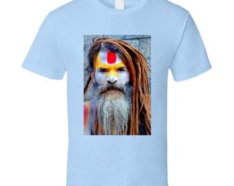 Blue Beard Man T Shirt