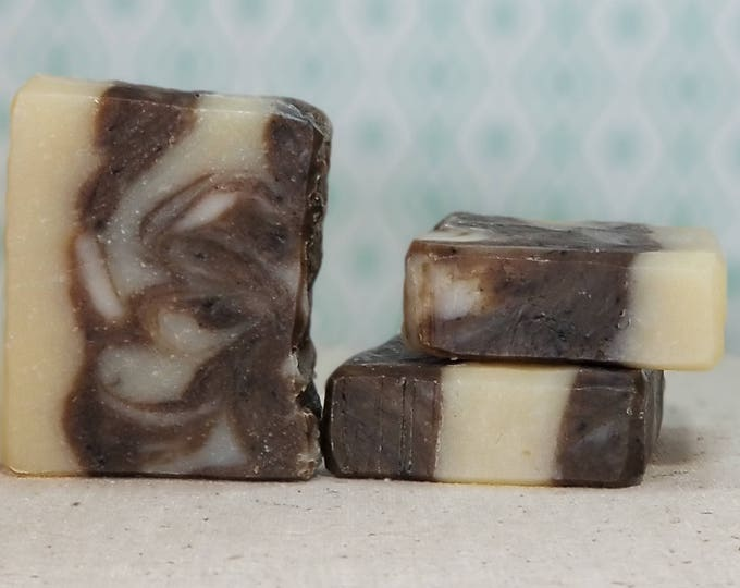 Coffee & Cream Soap --  All Natural Soap, Handmade Soap, Barely Scented Soap, Sustainable Palm Oil, Vegetarian Soap