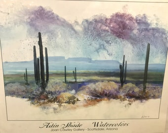 """Flash Sale- Adin Shade Watercolors Large Signed Print """"Tranquility"""" - Joan Cawley Gallery"""