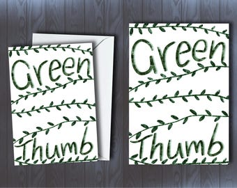 Green thumb | Card and Prints
