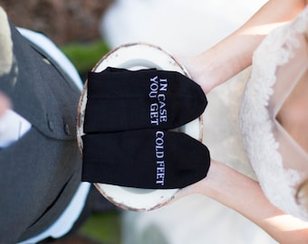 In case you get cold feet socks wedding gift grooms socks, cold feet socks, mens dress socks wedding gift idea