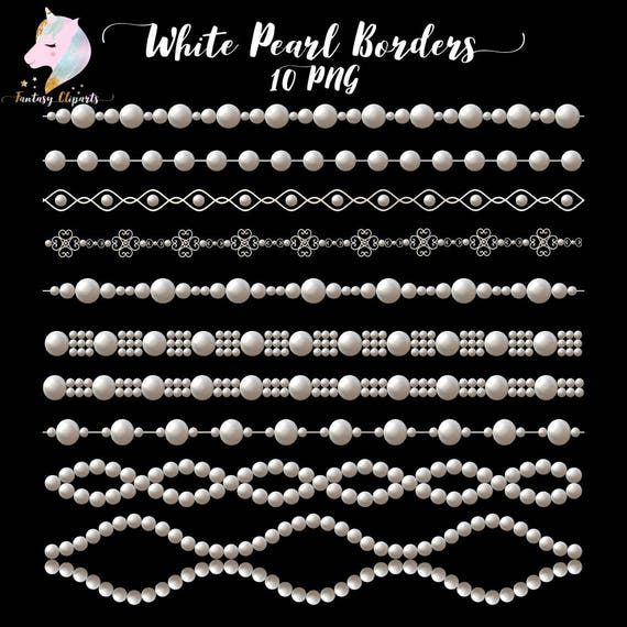 Pearl border clipart pearls clipart borders clip art white