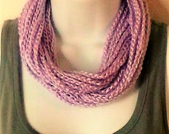 Chain Scarf - Infinity Scarf - Necklace Scarf - Circle Scarf - Light Purple - Orchid