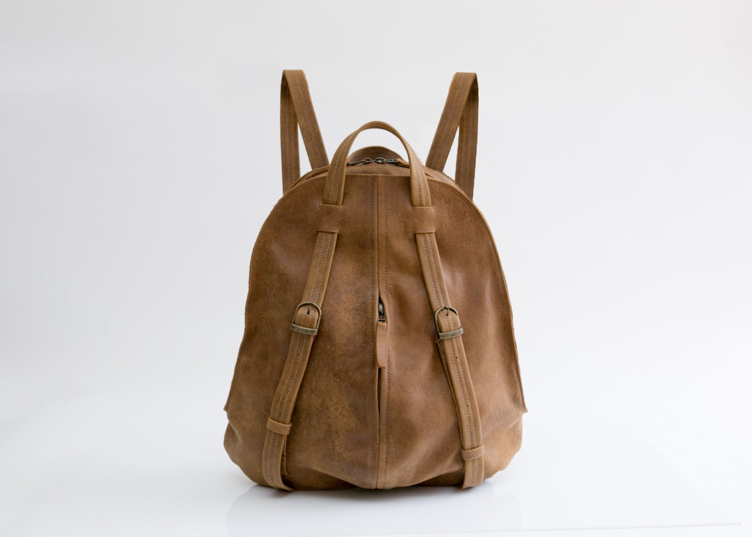 Women Leather Backpack Book Bag Purse