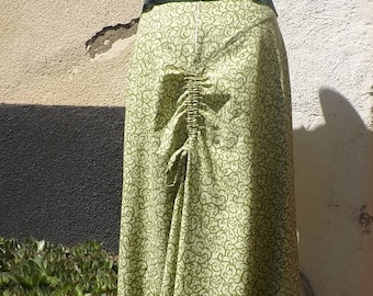 Skirt long HAZIEL Baroque elven ruching at the back by Sanlivine link