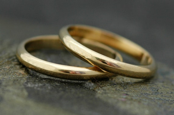 Gold Stacking Rings- Recycled Gold, Custom Made to Order Wedding Bands