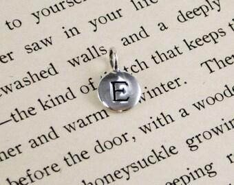 "Sterling Silver Letter  ""E"" Charm"
