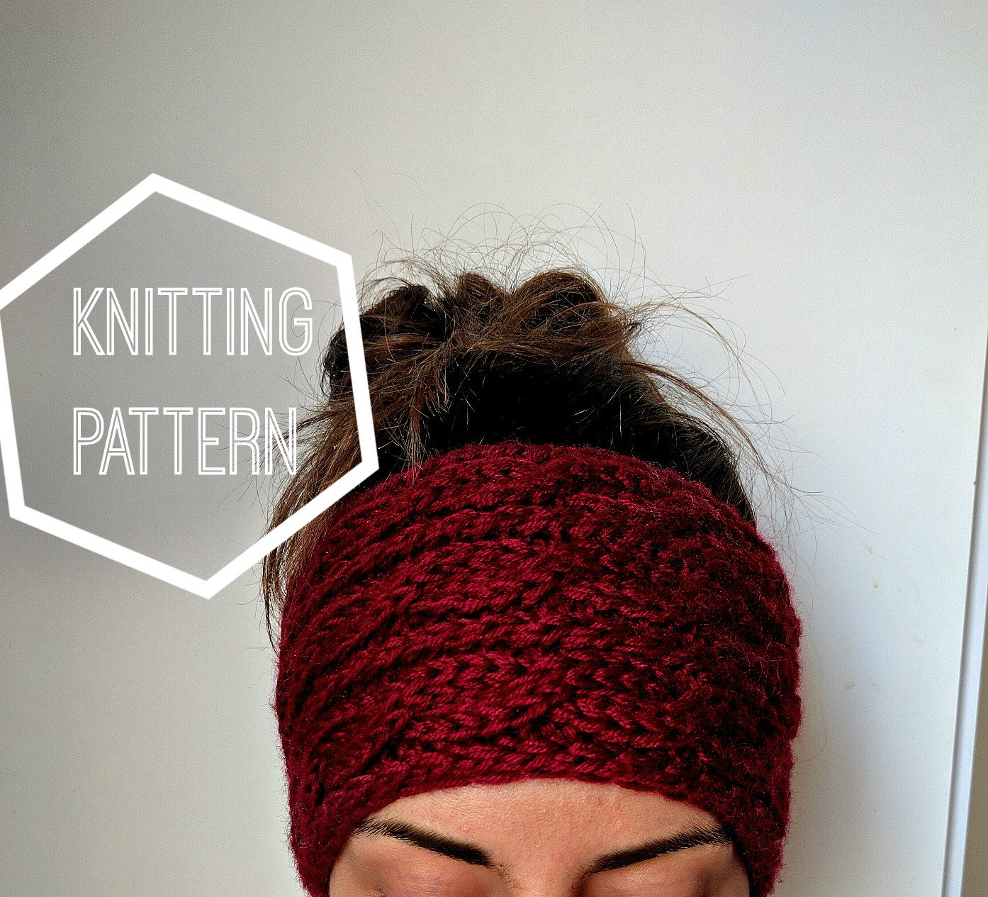 Chunky Cable Knit Ear Warmer Pattern Knitting Patterns for