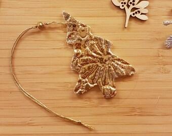 Gold tree, gold lustre tree, gold decoration, gold patterned tree, Christmas tree, tree, secret santa