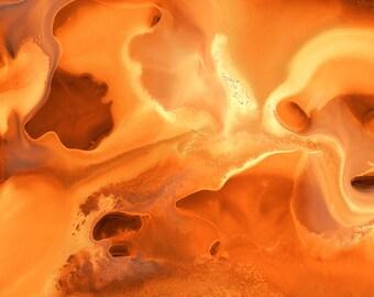 "Abstract Watercolor Giclée Fine Art Print - Yellow Orange Watercolor - Original Design - Fine Art - Home Decor - Harvest ""B"" - 8x10 - 11x14"