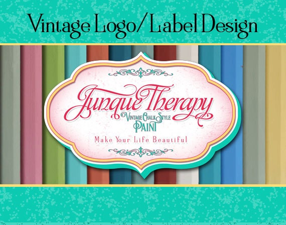 Vintage Product Label, Logo Design,  Business Sign Logo, Distressed Logo, Retro Logo, Stamp Logo Design, Wall Logo, T-shirt Logo, Chalk Logo