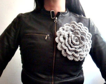 Flower Crochet Pattern Crochet Flower Accessory Pin Brooch Pattern 19