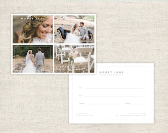 Photography Gift Certificate Template - Photographer Gift Card Template - Wedding Photo Gift Card Templates - INSTANT DOWNLOAD