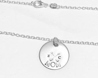Cross Country Runner Mom - XC Mother -  .925 Sterling Silver Necklace
