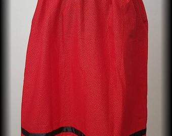 Red Ribbon Skirt **Ready to ship