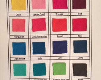 12 oz Cotton Lycra Solids 92/8 and 22 colors available