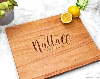 Personalized Wood Cutting Board, Wedding Gifts Personalized, Personalised Chopping Board, Custom Cutting Board, Housewarming Gift (GB042)
