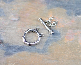 Sterling Silver Toggle Clasp / 2 Strand Toggle / CSP010