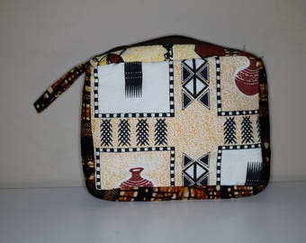 Makeup Bag, toiletries, cosmetic bag, travel pouch, African, kitenge, makeup zipper pouch, sleepover pouch, lipstick pouch, powder room, Spa