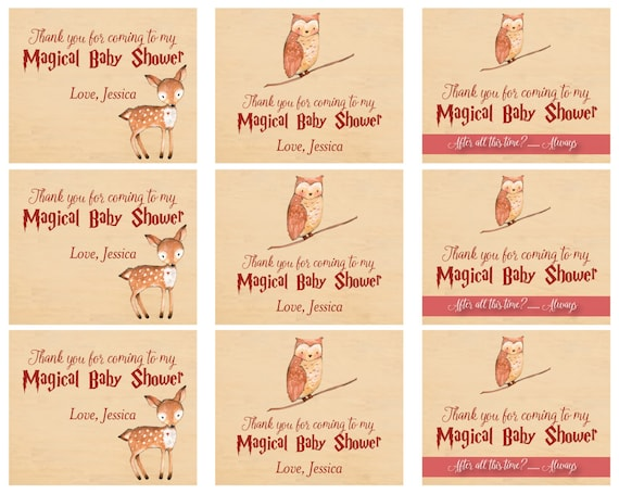 Harry Potter Baby Shower Tags   Harry Potter Baby Shower Favor Tags   Harry  Potter Baby Shower Goody Bag Tags   Digital File From DOODLEBOXdesigns On  Etsy ...