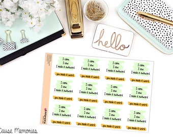 """SNARK SERIES: """"I made it awkward."""" Paper Planner Stickers"""