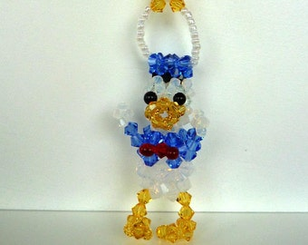 Donald Duck Suncatcher in Swarovski Crystal