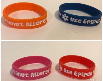 2 pcs Peanut Allergy Bracelet for Toddlers (15 cm), Camping must have, allergy bracelet, medical bracelet