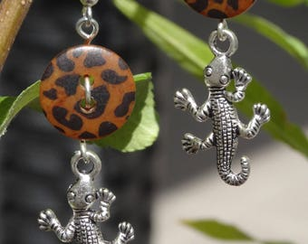 Wild - Earrings buttons and charms