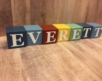 Baby Name Blocks, Photo Prop, Wood Blocks, Baby Blocks, Name Blocks