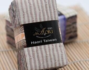 Taupe Precut fabric bundle (Random selected color | 100 pieces | 4.5cm x 8cm | Yarn Dyed | 100% Cotton)