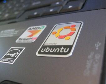 Aluminum Linux Ubuntu Case Badge Sticker