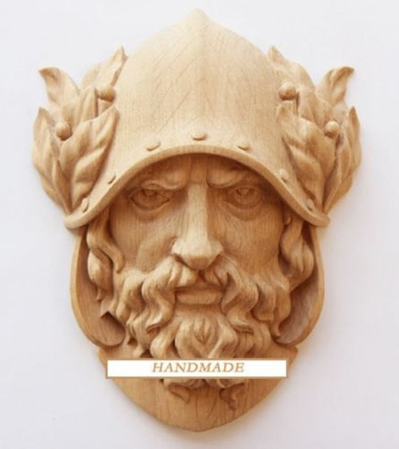 Dionysus hand carved mask reproduction ancient greek oak