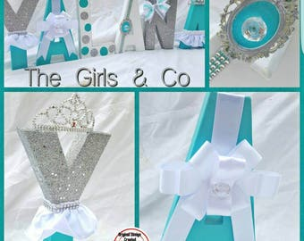 Tiffany & Co party Tiffany and Co baby shower Tiffany and  Co  Tiffany and Company Tiffany and Co party decor Tiffany and Co letters