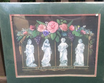 Vintage 1993 Karin Vollkommer Saratoga Springs NY Yaddo Gardens signed numbered Print