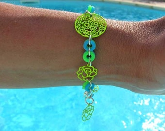 FunSun neon bracelet - green and blue