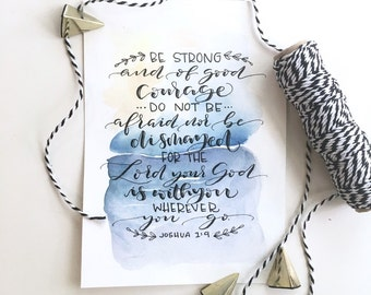 Custom Quote Print, Watercolor Print, Custom Handwriting, Custom Calligraphy, Watercolor Art, Bible Verse Art, Custom Gifts