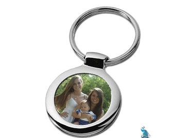 Custom Photo Personalized Picture Key Ring Fob of Your Family, Children, Grandchildren, Pets