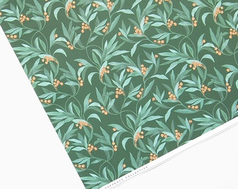 Vintage Berry Green Botanical Wrapping Paper