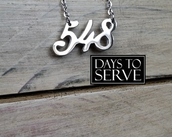 LDS Missionary Necklace, LDS Mission Gift, LDS Mission 548 Necklace, Days to Serve Necklace, Days to Serve
