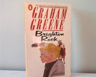 Vintage book Brighton Rock by Graham Greene 1977