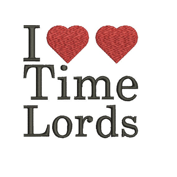 Machine Embroidery Design Instant Download Doctor Who I Love