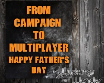 From Campaign to Multiplayer - Call of Duty  Father's Day - Beer Bottle Label
