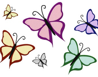 INSTANT DOWNLOAD Fluttery Butterfly Machine Embroidery Design